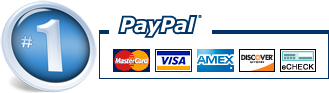 Pay with PayPal with any Credit Card or ECheck