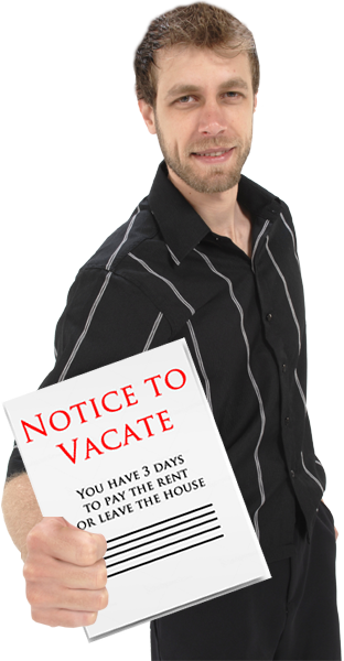 Hand Delivered Notice To Vacate for Non Payment of Rent in Houston TX