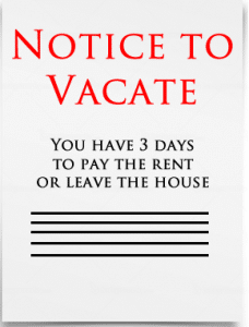3 Day Notice to Vacate Houston Texas