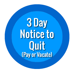 3 Day Eviction Notice to Pay or Quit