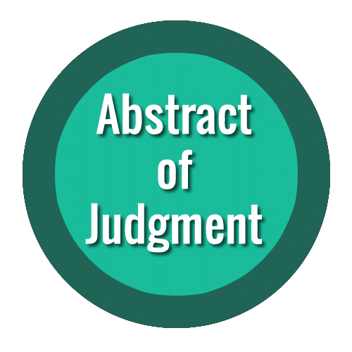 Abstract of Judgment Texas
