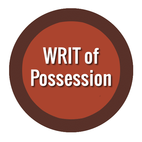 WRIT of Possession Texas