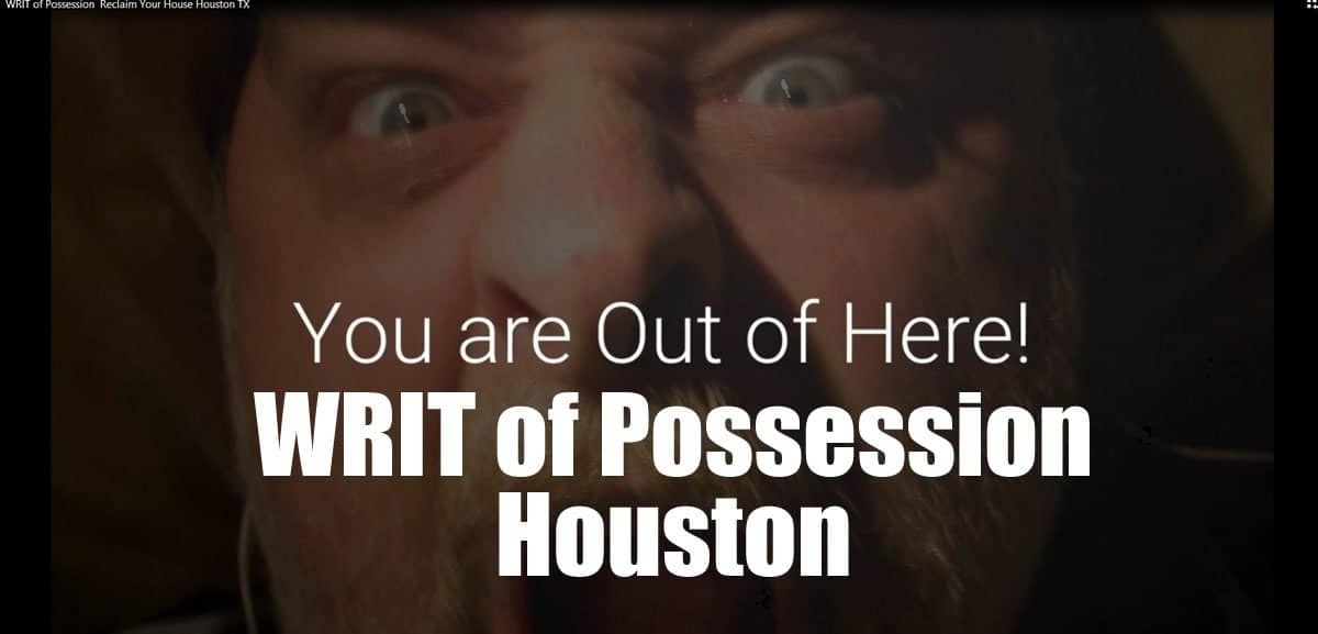 WRIT of Possession for Texas