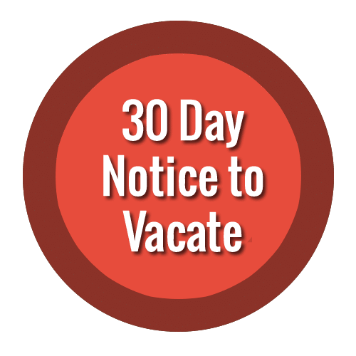 texas 30 day notice to vacate